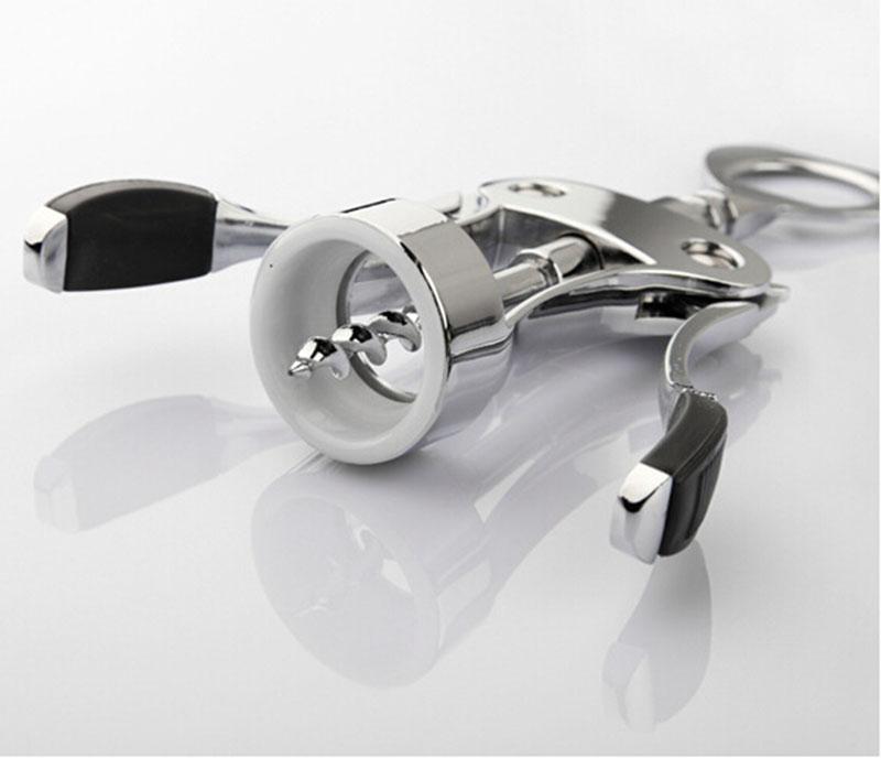 Luxury Silver Wing Corkscrew Easy Open Wine Bottle Opener for Wine