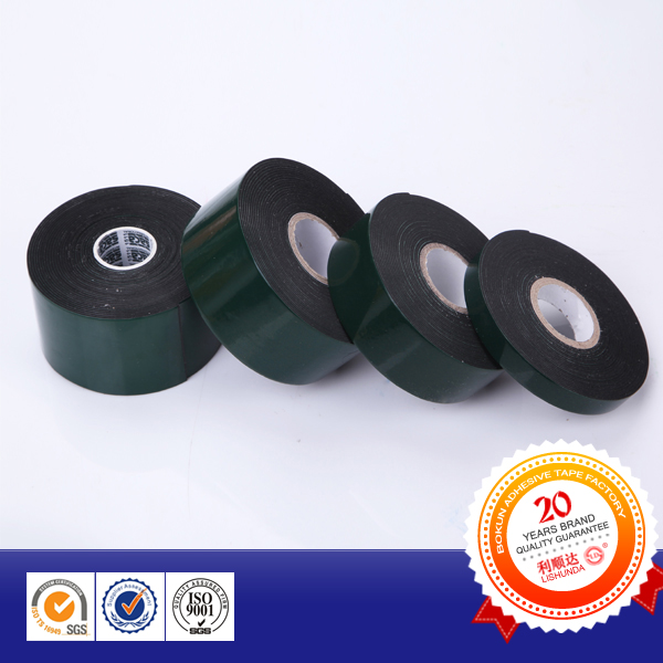 Green Silicon Paper Black Automotive Double Side Foam Tape
