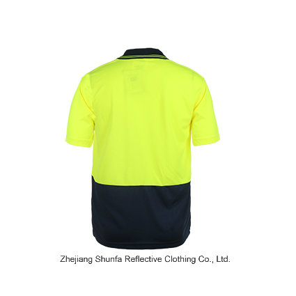 Color Combination Collar Design Polo Shirts Latest Design Safety Reflective Polo Shirt with Polyester Birdeye Fabric
