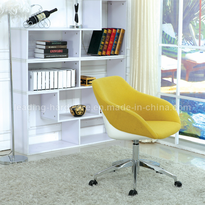 Upholstered Rotary Office Conference Chair with Aluminum Base
