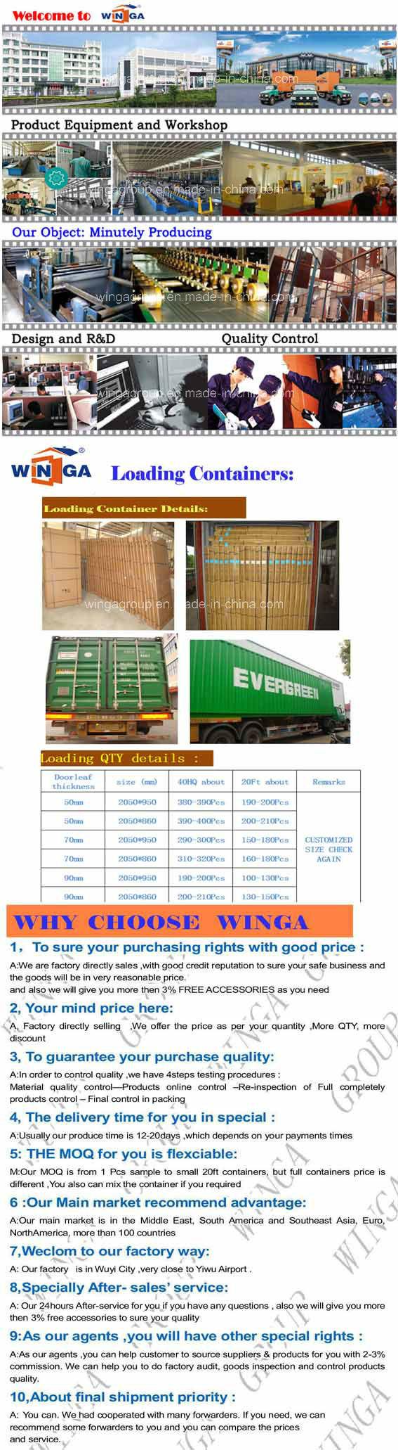 South America Best Price Security Exterior Steel Iron Door (W-S-82)