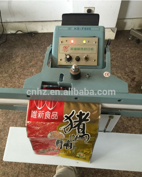 Passing Through Type Pedal Sealing Machine