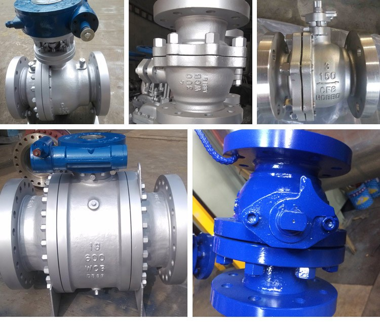 Hot Selling Standard Worm Gear Operation Carbon Steel Flange Ball Valve