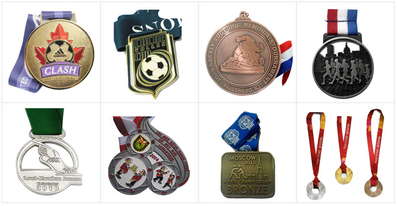Newest Design Glitter Sport Running Medal