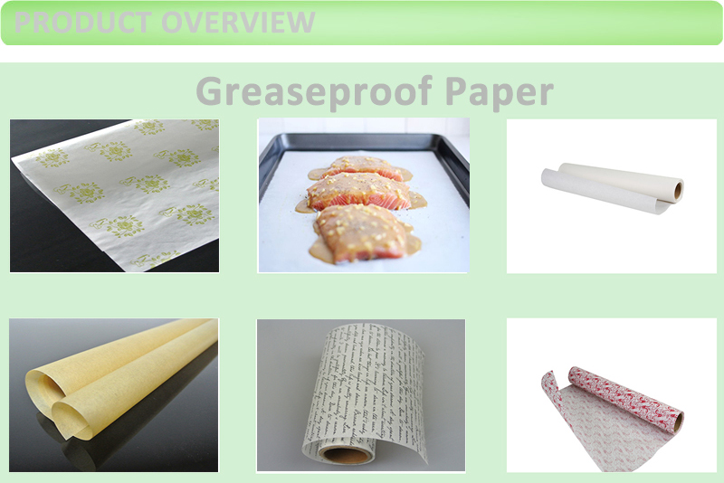 OEM 40GSM Print Natural White Greaseproof Paper Roll
