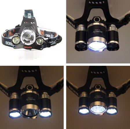 3PCS CREE T6 LED Rechargeable Headlamp