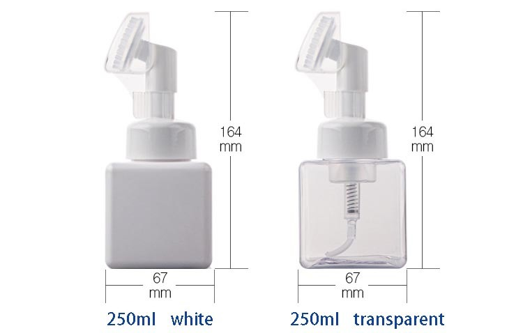 250ml High-Grade PP Cosmetic Bottle with a Brush (NB184-2)
