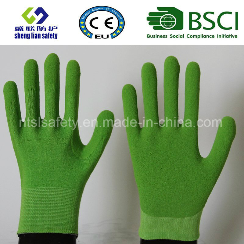 Nitrile Coating, Sandy Finish Safety Work Gloves (SL-NS111)