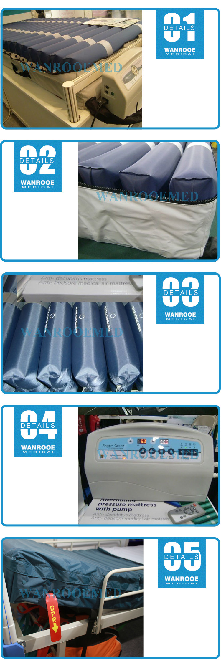 APP-T08 Wholesale Inflatable Folding Medical Mattress for Hospaital Bed