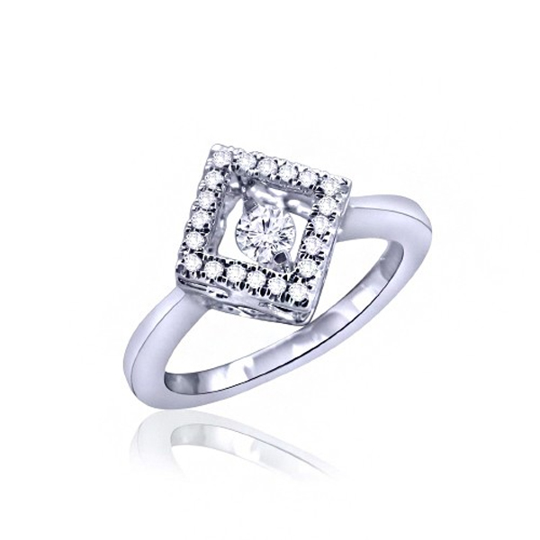 Hot Sale 925 Silver Ring Jewelry with Dancing Diamond