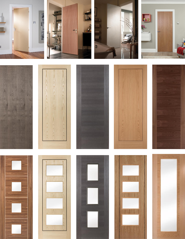 MDF Oak Wooden Veneer Interior Doors for Projects