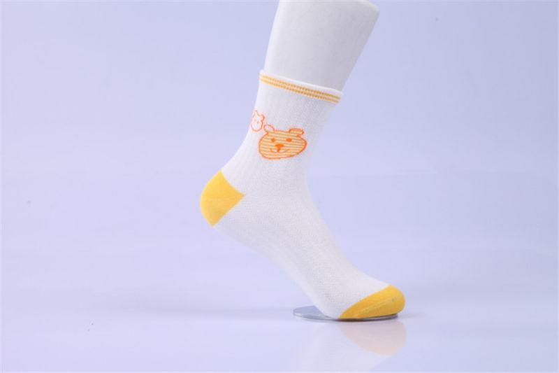 Lovely Cartoon Socks Bear Pattern Little Girl Cotton Socks