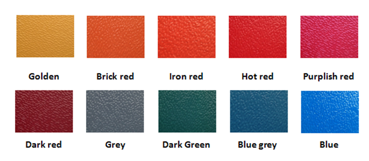 color of Spanish roof tile