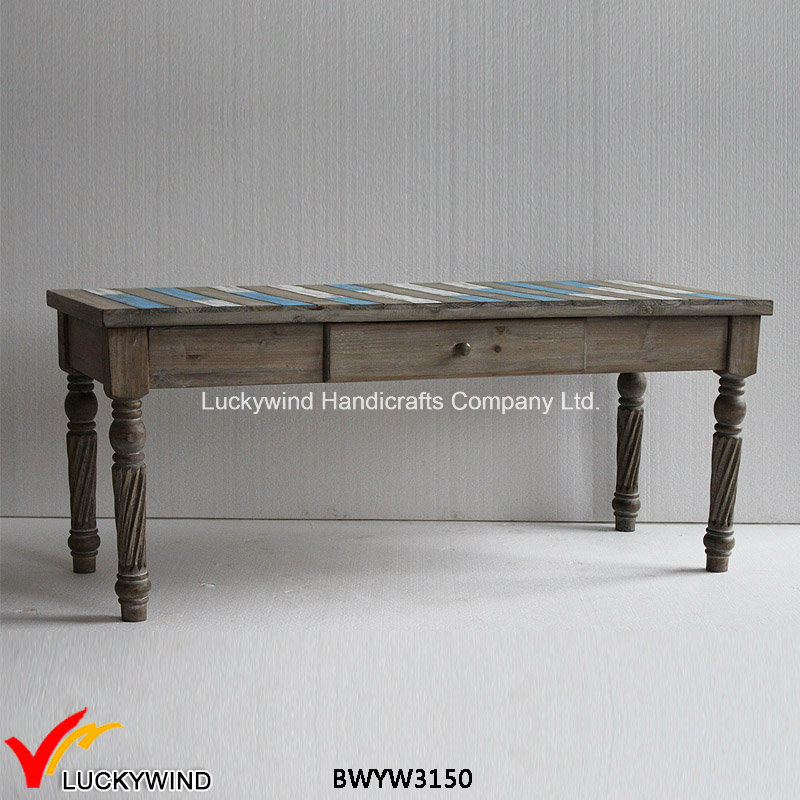 2016 New Design Vintage Wooden Square Coffee Table