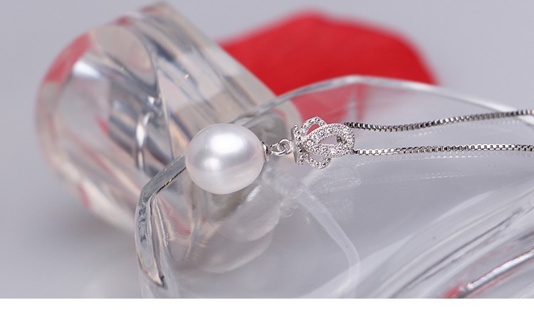 Natural Freshwater Pearl Pendant AAA 9-10mm Culture Teardrop Pearl Pendant