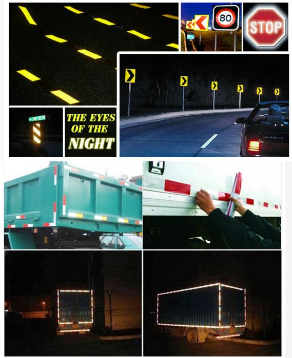 Crystal Lattice Arrow Grid Design Reflective Conspicuity Tape for Traffic Signs