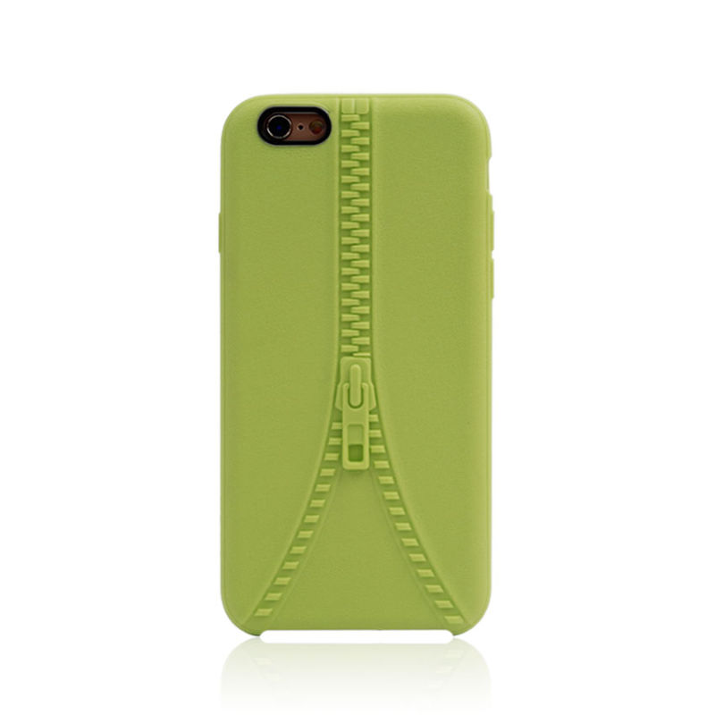 Mobile Accesasories for iPhone 6 6s Zipper TPU Phone Case