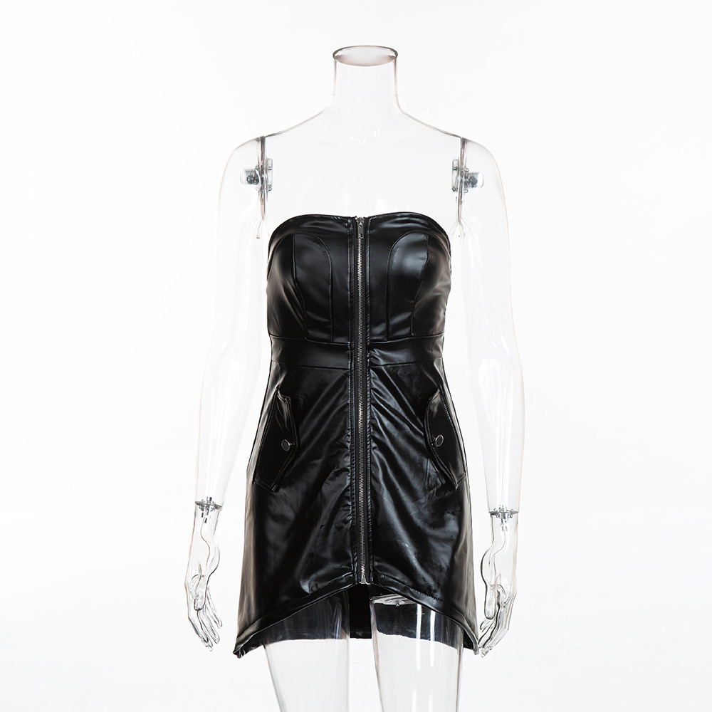 Wear Black Strapless Bodycon Dress