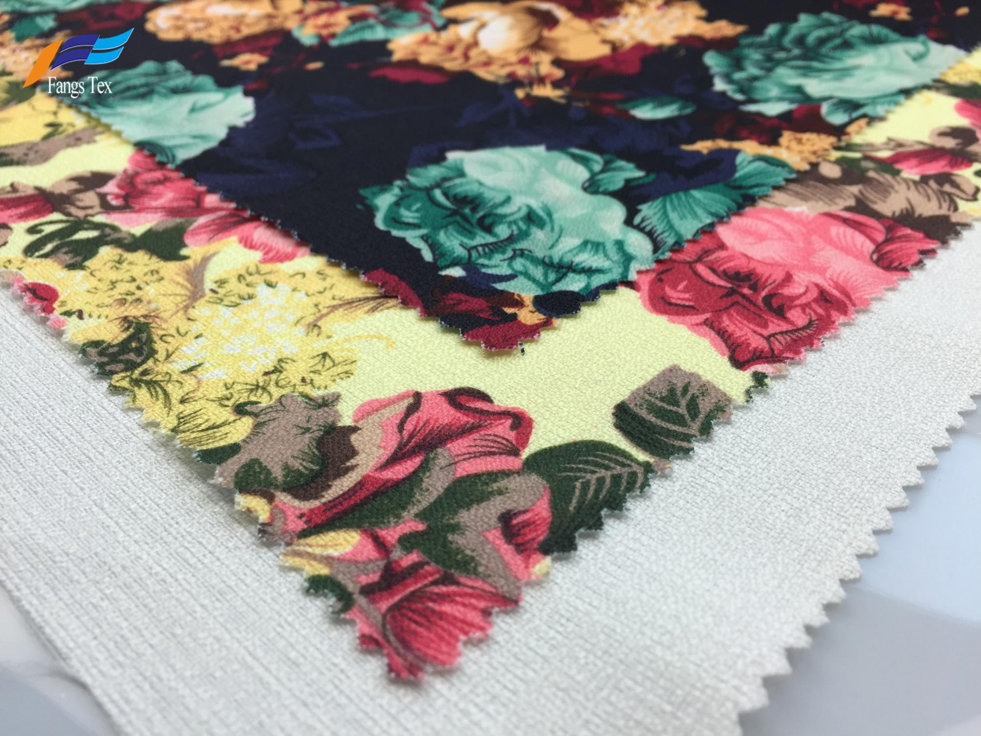 Polyester British Linen Floral Digital Printed Dress Fabric 1