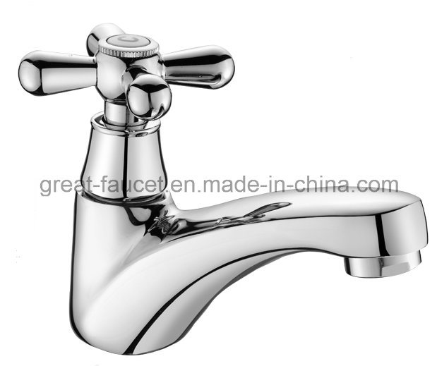 Brass Single Handle Bathroom Basin Tap (GL078X10)