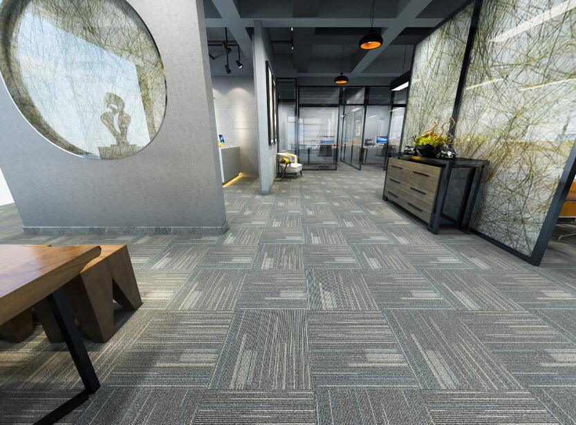 Newly Colorful Nylon Elegance Graphic Carpet Tile for Building Materials