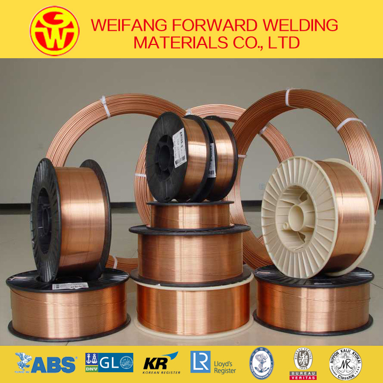 Er70s-6/Sg2 MIG Welding Wire Copper Coated Welding Wire with CO2 Gas Shielded