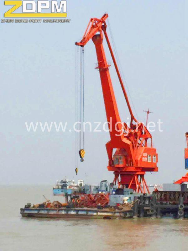 Marine Single Jib Port Crane for Lifting