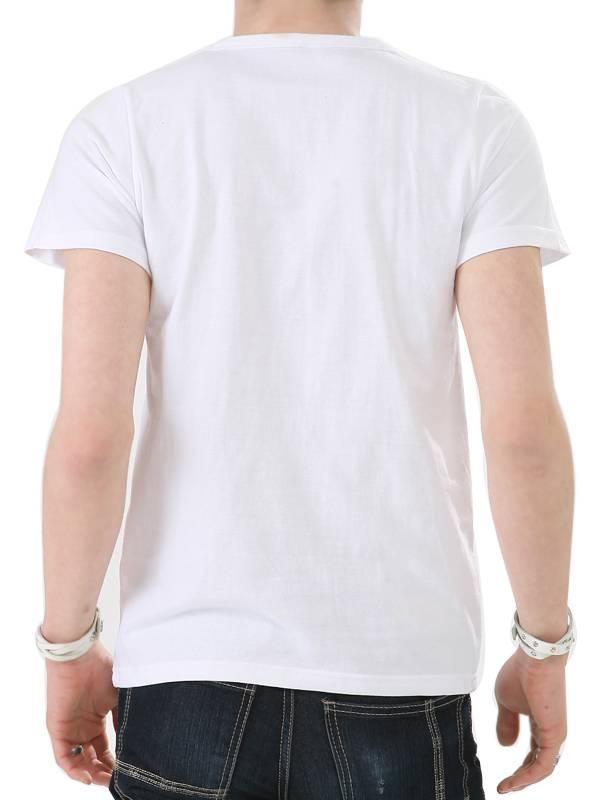 Fashion Screen Printing White Custom Cotton Hot Wholesale Summer Men T Shirt