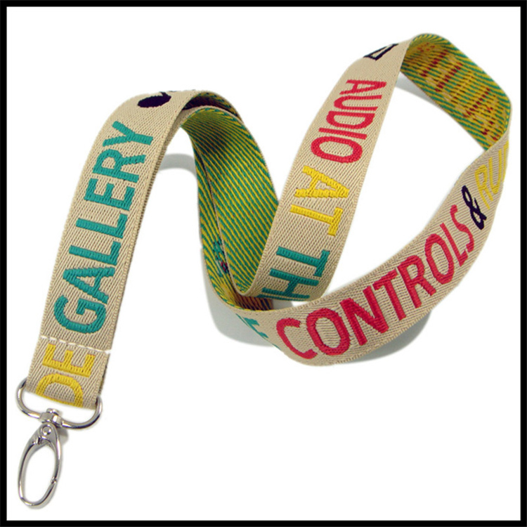 Fashionable Woven Hand Knitted Logo Custom Lanyard for Students