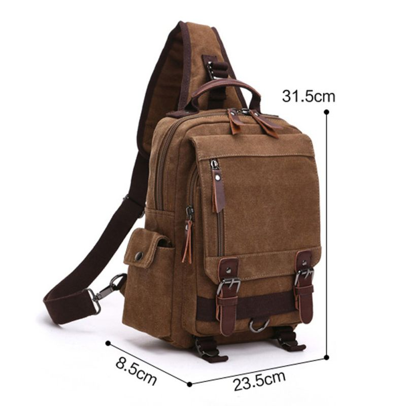 Fresion Casual Lightweight Canvas Cross Body Bags Hiking Travel Daypacks