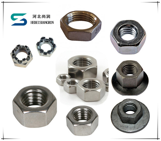 Factory Price Hot Sale Steel Zinc Plated Hexagonal Hex Nuts