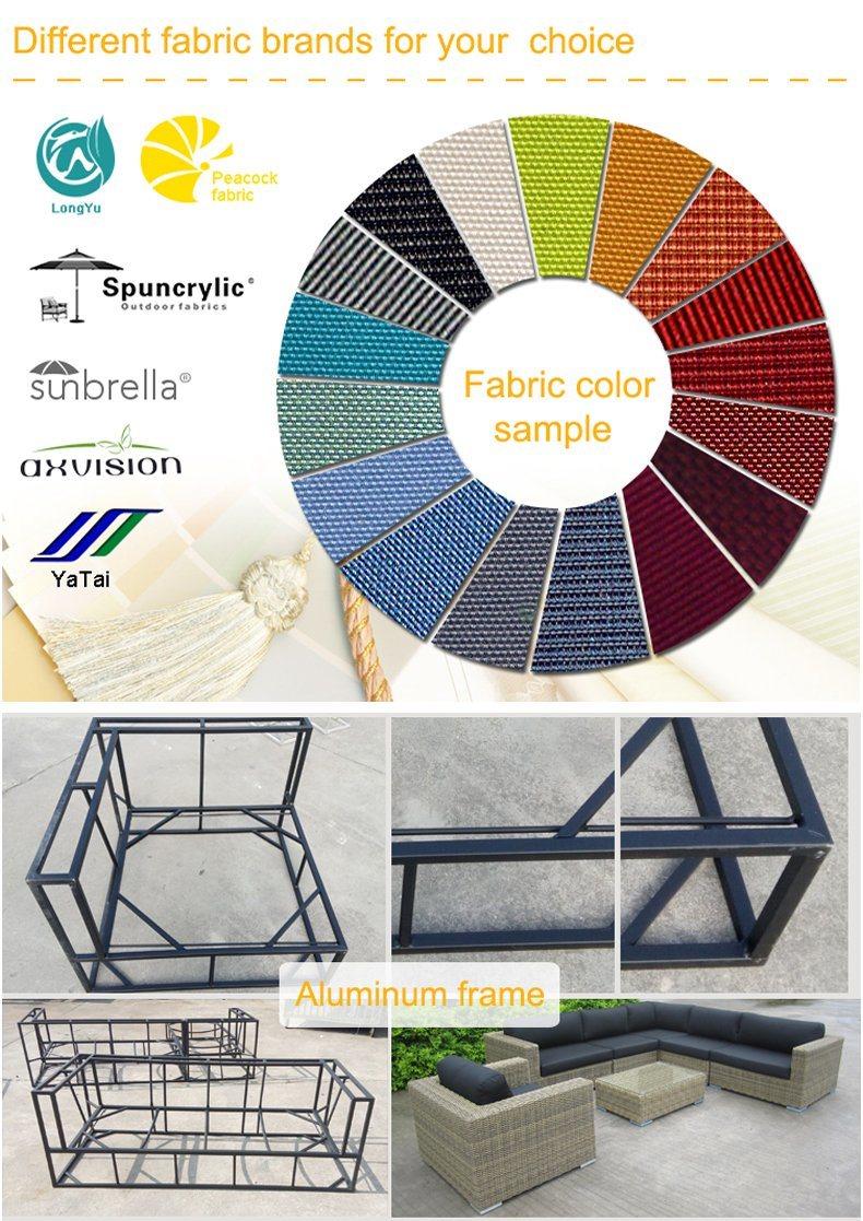 Modern Leisure Hotel Home Outdoor Lounge Chair Patio Sofa Set Garden Aluminum Furniture