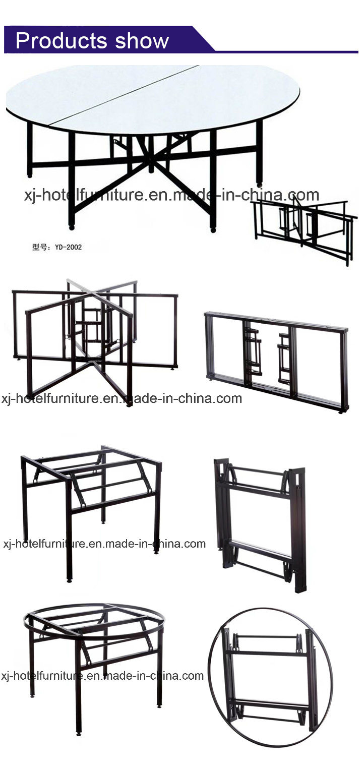 Modern Folding Dining Table for Banquet/Hotel/Restaurant/Wedding/Meeting