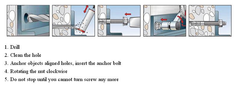 Repair Part Flange Head Sleeve Expansion Bolt Anchor
