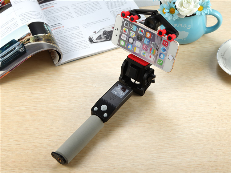 Built-in Remote Shutter Folding 360 Degree Rotating Wired Mini Selfie Stick