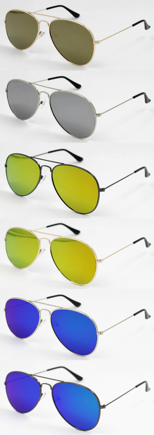 2016 New Metal Sunglasses with Flat Lens (MI160223)