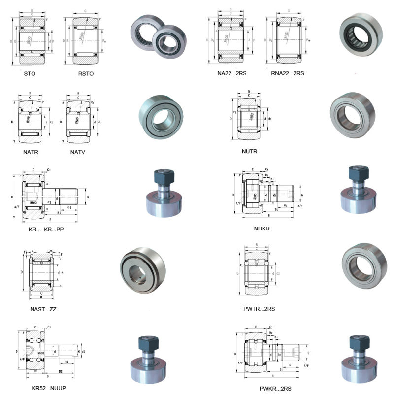 Track Roller Bearing Supporting Roller Bearing Cam Follower Nukr