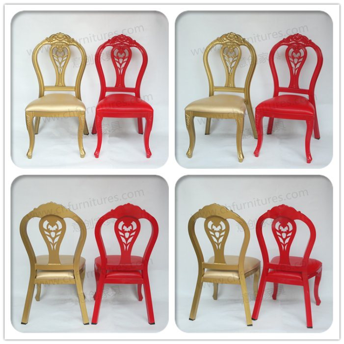 2018 New Design Aluminum Stacking Gold Dining Chair for Hotel and Banquet Yc-E150