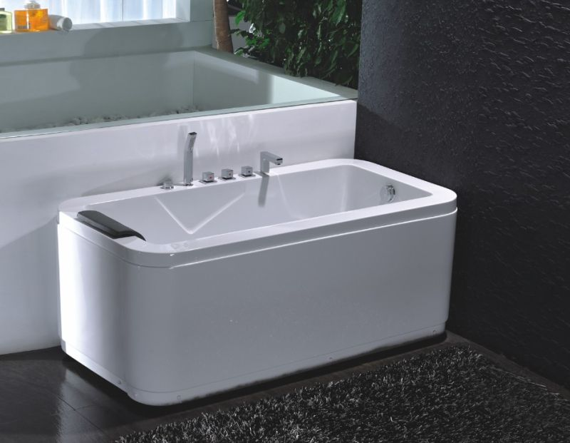 Rectangle Indoor Acrylic Massage Bathtub (JL812)