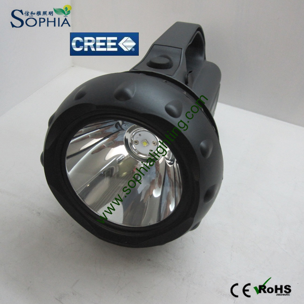 High Power 30W CREE LED Search Light Rechargeable Battery