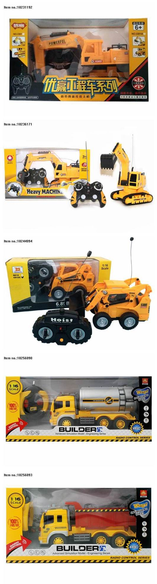 4 Channel Remote Control Excavator Toys with USB for Children