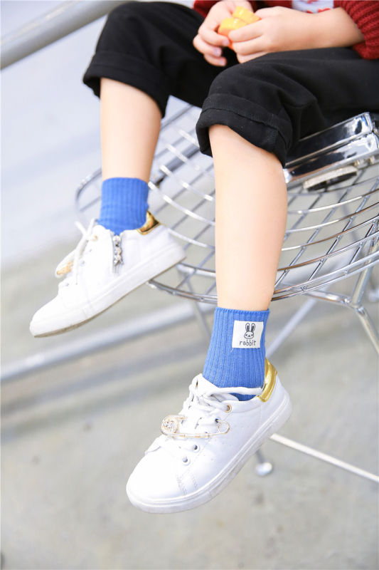 Cute Little Girl Cotton Socks Kid Socks with Labelled Animal Logo