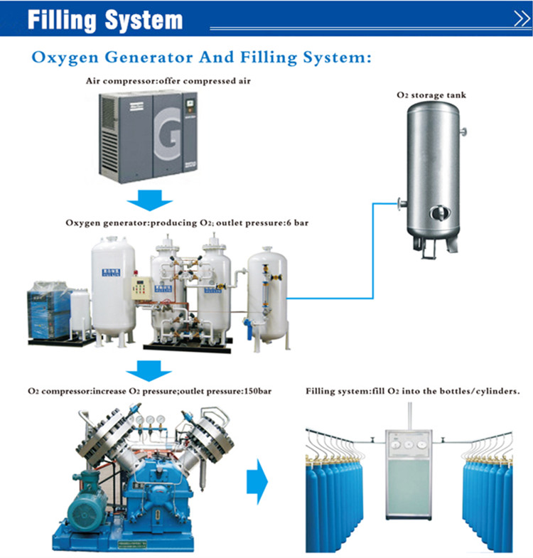 Psa Oxygen Generator for Hospital (Purity: 96%)