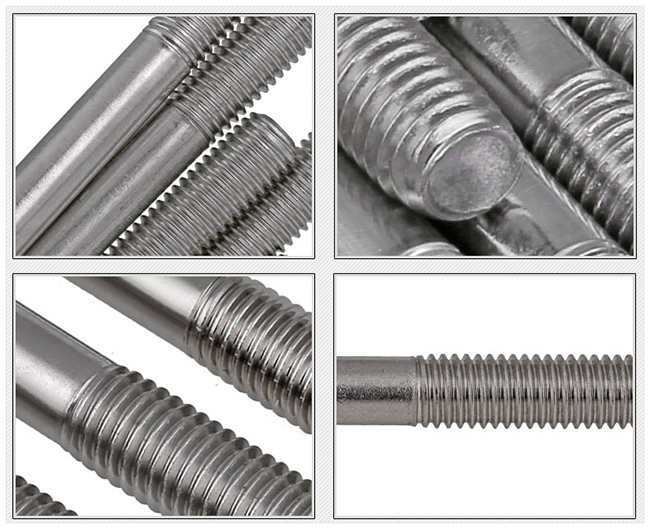 Stainless Steel Threaded Stud Bolts and Nuts
