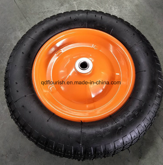 Steel Rim Pneumatic Rubber Wheel 3.25-8 for Garden Tool Cart