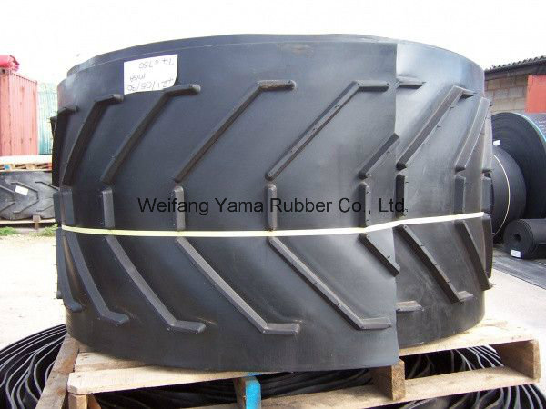 Large Capacity Chevron Rubber Conveyor Belt Made in China