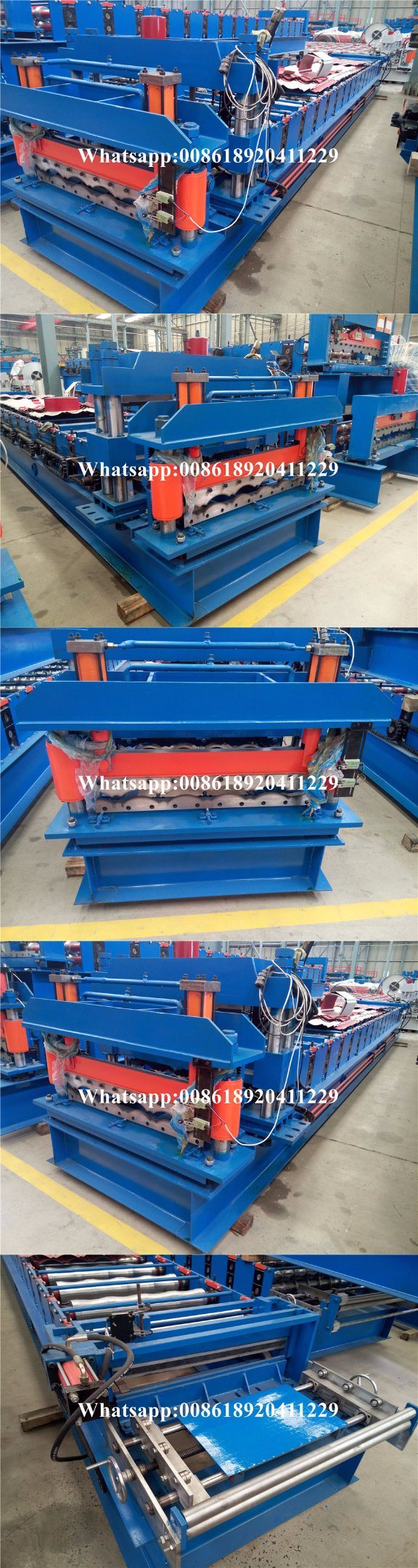 Botou Factory Cold Roll Bending Machine of Roofing Glazed Panel