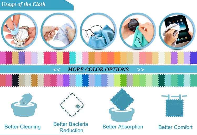 Children's Colorful Super Fine Fiber Wiping Cloth