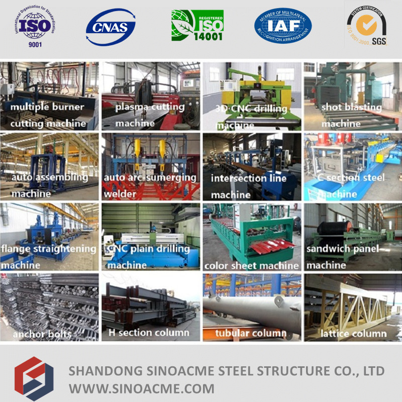 High Quality Turnkey Heavy Steel Structure for Building/Factory