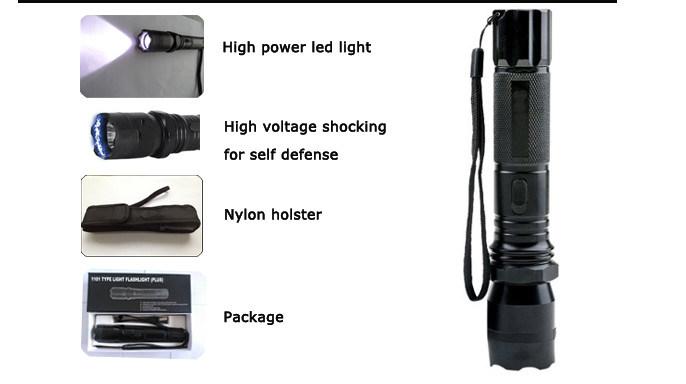 1101 Military Tactical Flashlight Stun Gun/Torch Stun Gun (SYSG-1101)